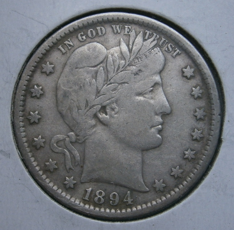 Really nice 1894-S Barber quarter, another great find from my fav FR park.