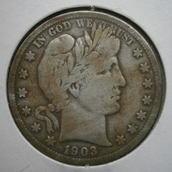 Beautiful 1903-S Barber half dollar, found in New Bedford.