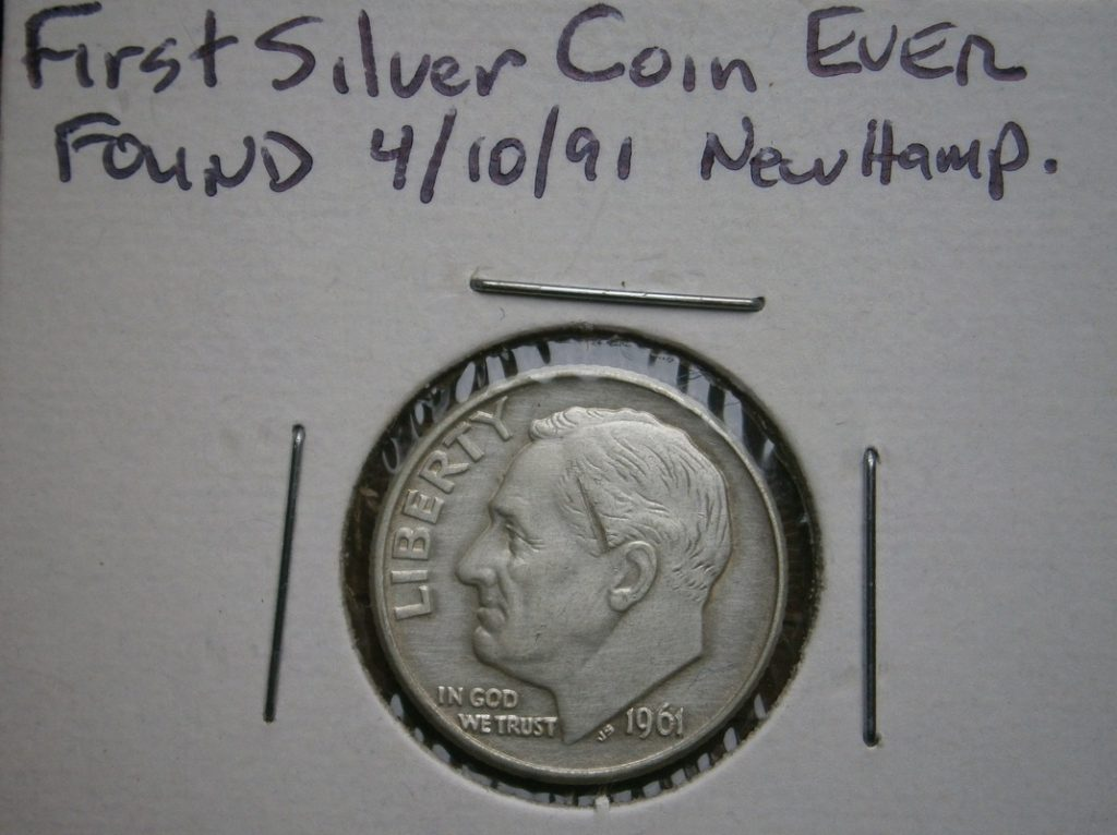 It all started with this- first silver coin Jeff ever found, 1961-D Rosie.