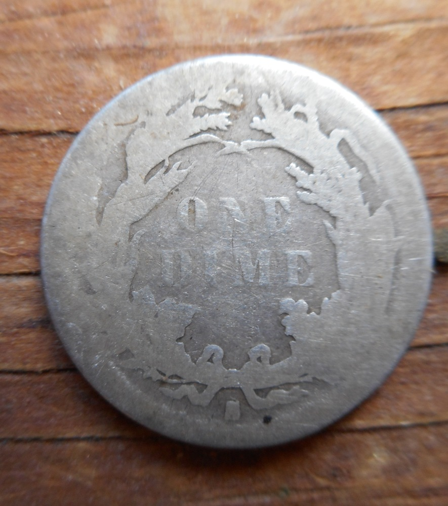 Same place in Plympton, reverse of an 1884-S Seated Liberty dime.