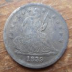 1839 Seated Liberty Half dime, found right next to 1830 Half dime in Little Compton