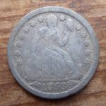 1853 Seated Liberty dime, arrows at date