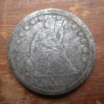 1861 Seated quarter, found in NB park