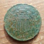 Obverse of really nice 1864 2 Cent coin