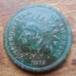 1872 Indian Head cent- key date- found in Plympton