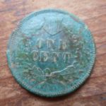 1872 Indian cent rev
