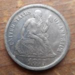1875 Seated dime obverse- amazing condition!!