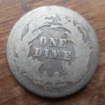 Reverse of 1876-CC Seated dime