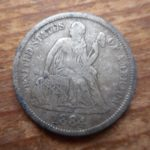 1884 Seated dime obverse- nice shape