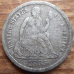 1885 Seated dime obverse- nice shape