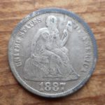 1887 Seated dime obverse