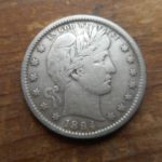 Obverse of 1894-S Barber quarter- really nice condition