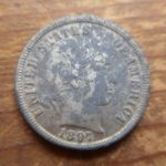 1897 Barber dime- stained but in great shape