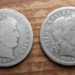 "Pair of ""O"" mint BArber dimes, nice coins"