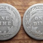 "Pair of ""O"" mint BArber dimes, rev."