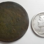 Couple of nice hunt finds- Large cent and Mercury dime