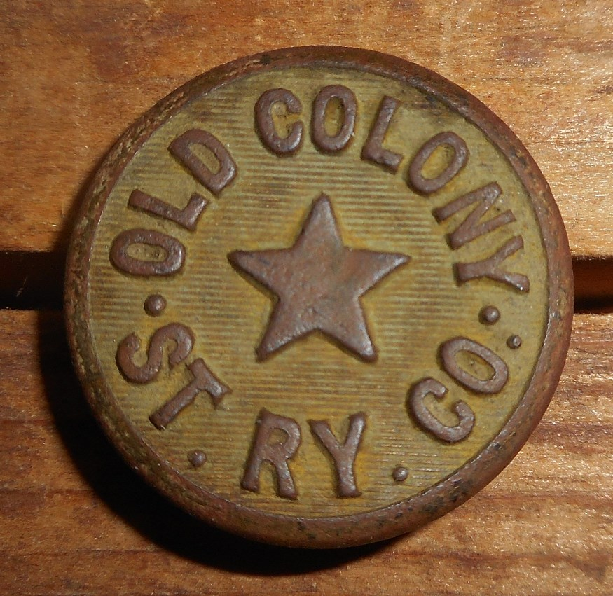 Obverse of Old Colony RR button